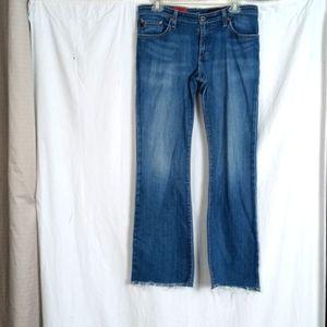 AG Adriano Goldshmeid Angel raw hem flare jeans 31